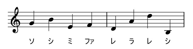 音高の練習答え