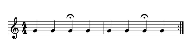 フェルマータ応用例1