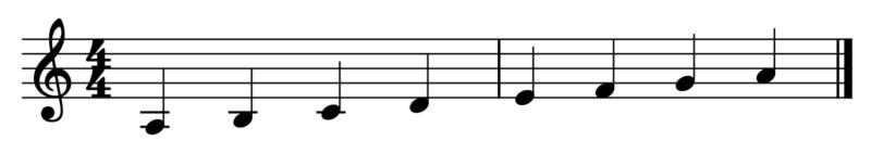 イ短調のラシドレミファソラ