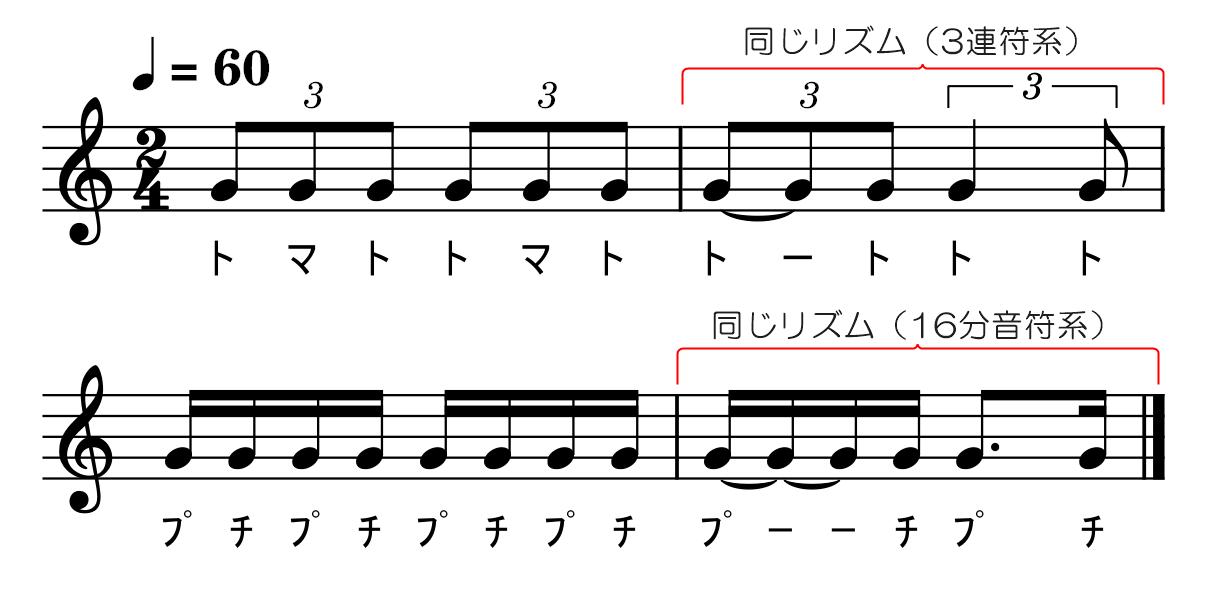 3連符【応用】付点八分音符攻略書き込み
