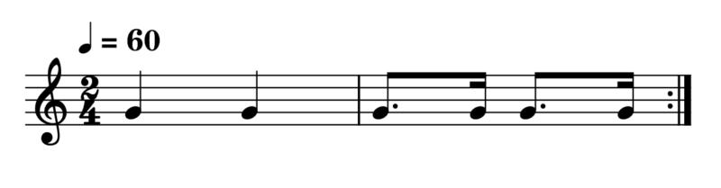 3連符【応用】付点八分音符