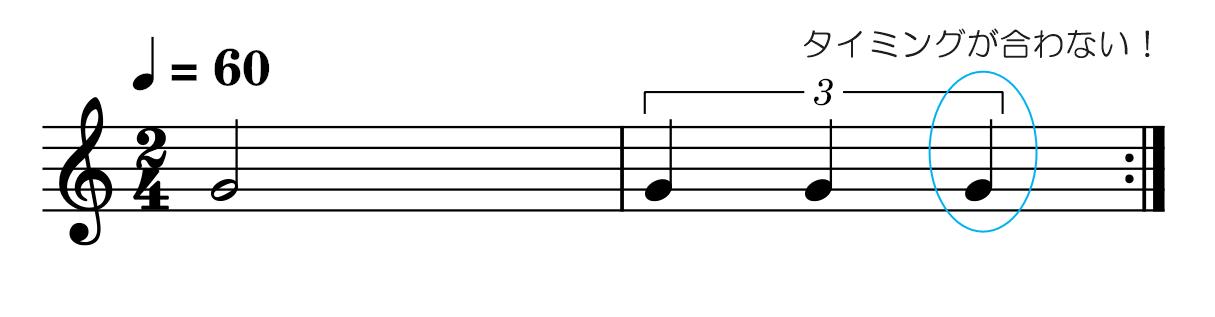 3連符【応用2】2拍3連と8ビート書き込み