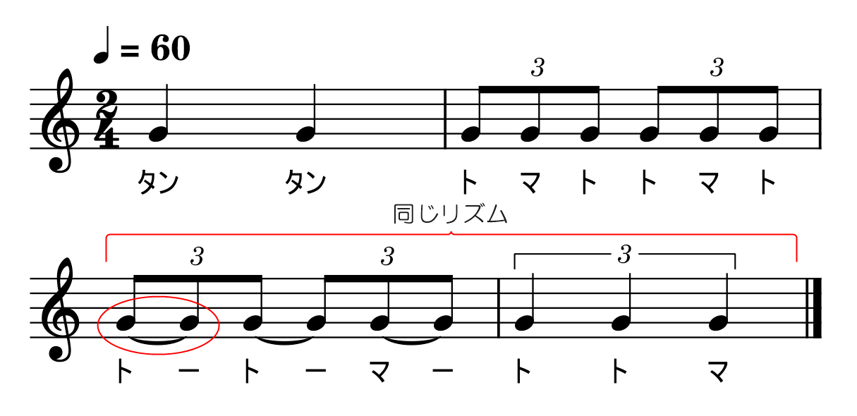 3連符【応用2】2拍3連攻略書き込み