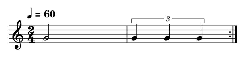 3連符(2分音符)