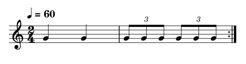 3連符(4分音符)