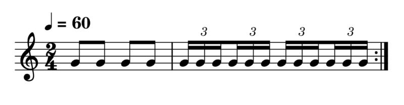 3連符(8分音符)