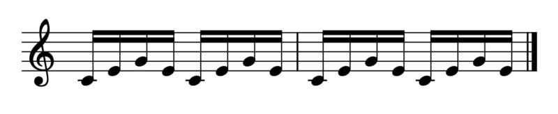4.斜線の繰り返し1(演奏法)