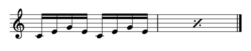 4.斜線の繰り返し1(記譜法)