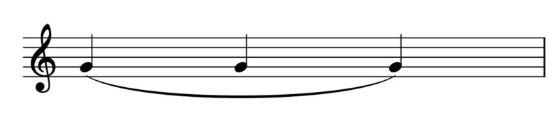 スラーの例(4分音符の連続)