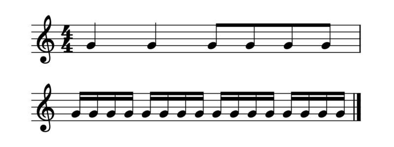 16分音符の数え方