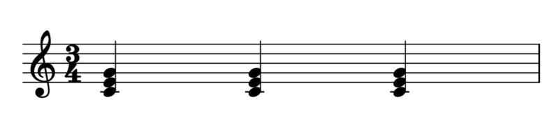3拍子1拍目開始(曲の始め方)