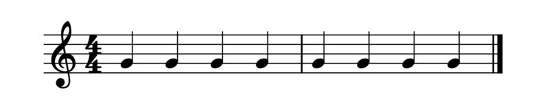 4分音符の数え方