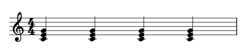 4拍子1拍目開始(曲の始め方)