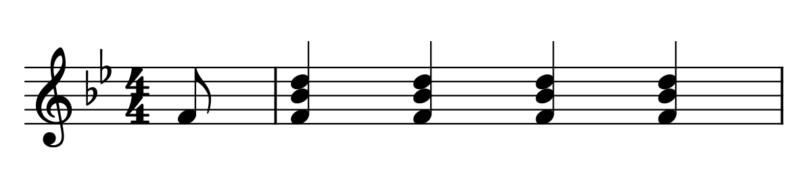 4拍子4拍目裏開始(曲の始め方)