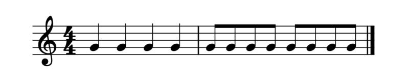 8分音符の数え方