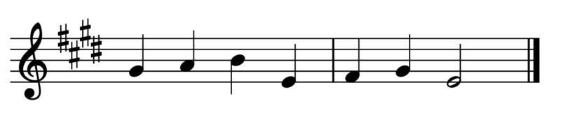 ♯4つの例題(調の見分け方)