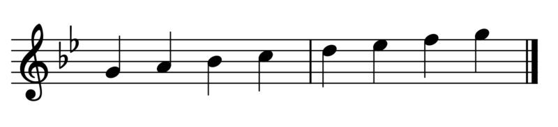 ト短調の音階
