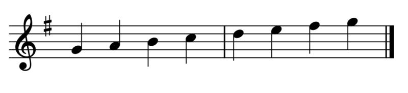 ト長調の音階