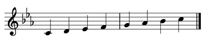 ハ短調の音階