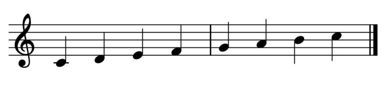 ハ長調の音階