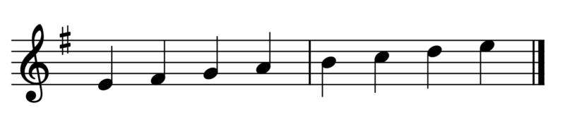 ホ短調の音階