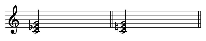 和音聴き比べ(第3音の違い)