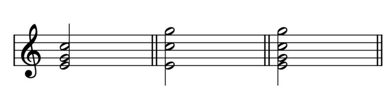 和音(Cの第1転回形バリエーション)