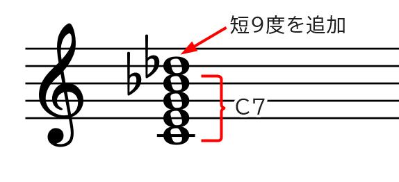 和音(C7♭9)の説明