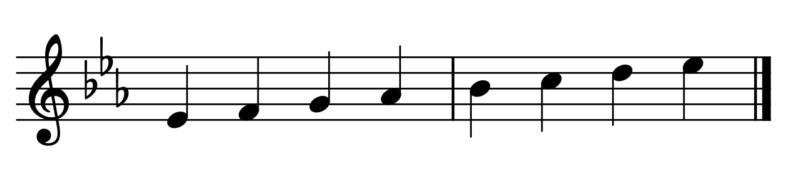 変ホ長調の音階