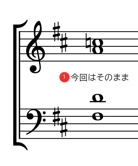 (4和音)手順1.同じ音を省く